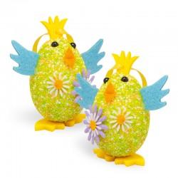 Kurczaczki - pisanki z zawieszką