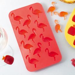 Silikonowa foremka do kostek lodu flamingi