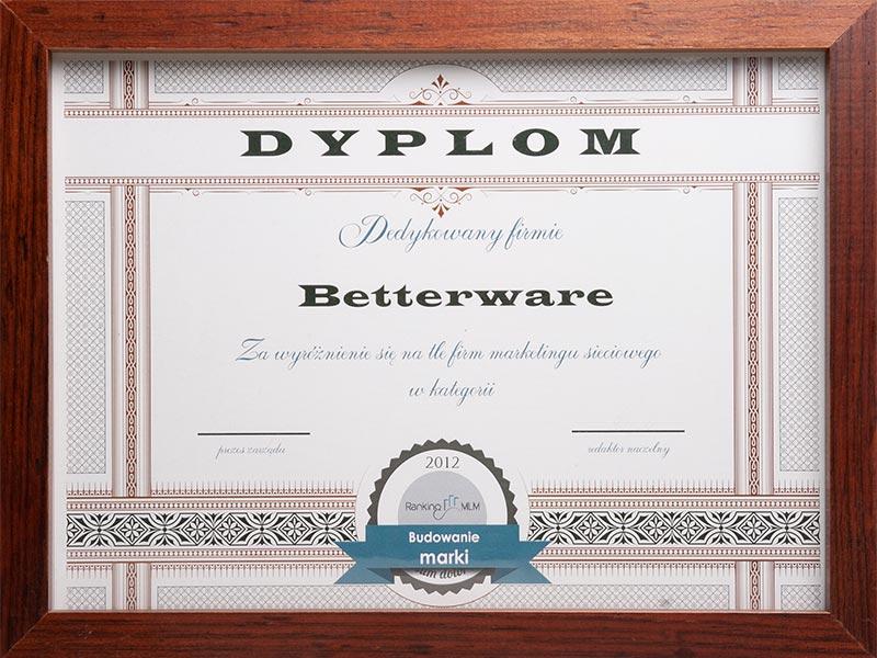 Dyplomy Betterware