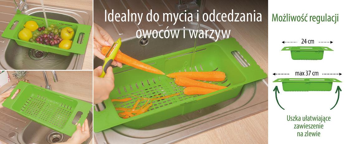 Idealny do mycia i odcedzania owoców i warzyw