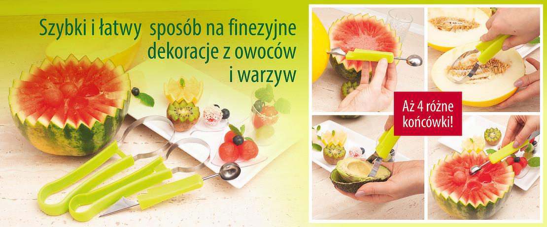 Wykrawacz do dekoracji z owoców i warzyw